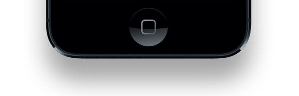 home button on iPhone 5S